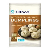 O'Food Bite Size Hot Pepper Japchae Dumplings 6.35oz(180g)