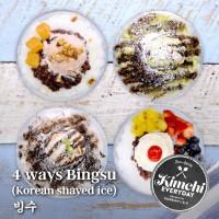 Bingsu (Korean shaved ice) 4ways / 빙수