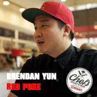 Chef Brendan Yun at Red Poke : Soy Marinated Wasabi Mayo Tuna Poke