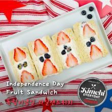 Independence day Fruit Sandwich / 독립기념일 과일샌드위치